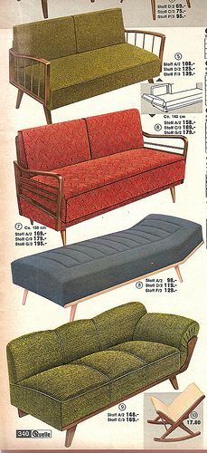 1963 Quelle Sofas - all I need is a time machine and my life will be complete!
