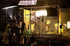 Gregory Crewdson - Behind the Scenes - This image shows how much is put into Crewdsons photos. The lighting, set up, detail, backgrounds and subjects.