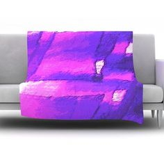KESS InHouse Suenos en Purpura by Oriana Cordero Fleece Throw Blanket Size: