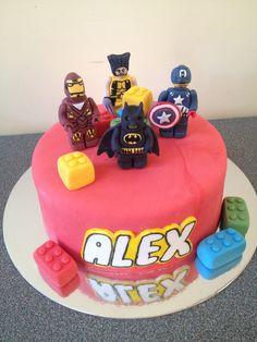 Lego superheros cake