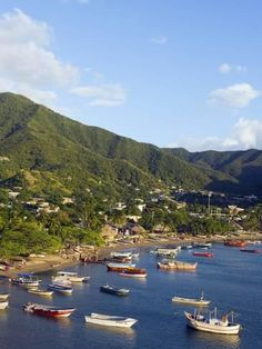 size: Photographic Print: Taganga, Caribbean Coast, Colombia, South America by Christian Kober : Artists Columbia South America, South America Travel, Places To Travel, Places To Visit, Costa Rica Travel, Largest Countries, Belize, Travel Inspiration, Caribbean