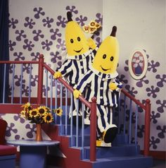 Bananas...in Pajamas...are coooooooooming down the stairs! (I think this was also my first exposure as a kid to actual Australian accents. I just thought they were very strange British accents at the time.)