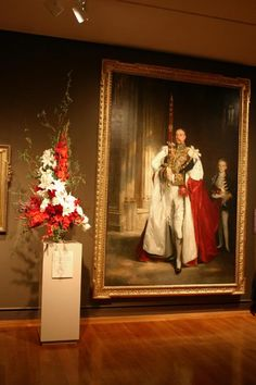 Boston Museum of Fine Arts, Art in Bloom 2004. Floral arrangement and the art work it is interp    http://entertainment.webshots.com/photo/1137887089035079958PdkCKt