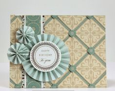 Gaila's Paper Crafts Birthday Card made with Anna Griffin Haven Collection Papers