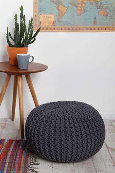 pouf tricot DIY boheme