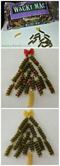 DIY: Noodle Christmas Tree Craft For Kids (Handmade Card Idea) | http://www.sassydealz.com/2013/11/diy-noodle-christmas-tree-craft-for.html