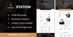 LegalStation- Clean Responsive Business Wordpress Templates for Legal Lawyer, Attorney, Legal Officers, Law Firm etc. In this Responsive Template you will get 2