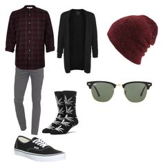 """""""#6"""" by outfit-men ❤ liked on Polyvore featuring J Brand, HUF, Vans, Topman, River Island, Coal, Ray-Ban, men's fashion, menswear and cool"""