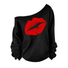 SHARE & Get it FREE | Stylish Women's Oblique Shoulder Long Sleeve Lip Print T-ShirtFor Fashion Lovers only:80,000+ Items • FREE SHIPPING Join Twinkledeals: Get YOUR $50 NOW!