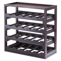 "Kingston 20 Bottle Wine Cube - Dark Espresso (From Target, on sale for $44.99): 20.5"" H x 20.5"" W x 10"" D"
