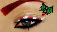 Candy Cane Christmas Makeup Tutorial
