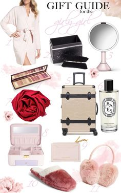LOVE that luggage! It is SO feminine and vintage! And I need these fluffy cozy soft slippers! Everything is pink and affordable and I want it all! // Marie Ernst of Marie's Bazaar shares her picks for all the girly girls in your life! Soft Slippers, Girly Girls, Home Decor Inspiration, Gift Guide, Holiday Gifts, Feminine, Cozy, Holidays, Fashion Bloggers