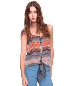 Abstract Stripes Tie-Waist Cami - Tops - 2000020537 - Forever21 - StyleSays