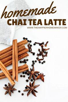 Homemade Chai Tea Latte recipe-this is so good!