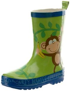 Stephen Joseph Boys 2-7 Monkey Rain Boots, Jungle Green, 6 Stephen Joseph. $24.99. Removable insoles. rubber. Wipe clean or hand wash, hang dry. Easy to slip on & off. Rubber. Made In China