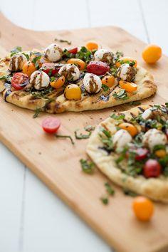 Grilled Caprese Naan Pizza