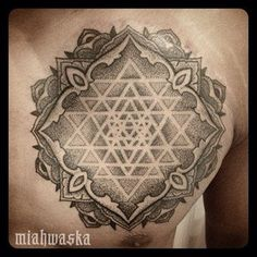 Sri Yantra Tattoo dotwork mandala sacred geometry | Yelp