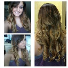 My beautiful red to honey blonde ombre done by Savannah Smith at Dena and Company in Sapulpa, OK