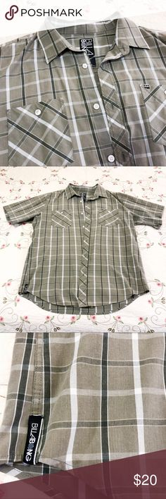 Billabong collared shirt - XL Billabong collared shirt XL in green Measurements shown  Non-smoking house  Make an offer or place your items in a bundle to receive a private offer :)  All purchases help supplement my income as a 4th grade teacher. Mahalo! Billabong Shirts Casual Button Down Shirts