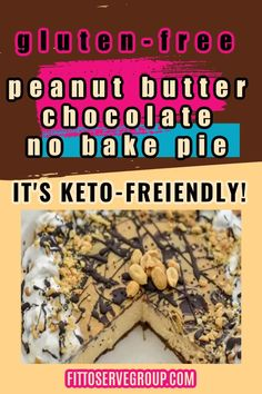 This Keto peanut butter chocolate pie is creamy, rich and flat-out decadent. It's an easy keto pie that everyone will love you for making. It's also gluten-free. Keto peanut butter chocolate pie| low carb peanut butter chocolate pie| sugar-free peanut butter chocolate pie| keto pie|low carb pie
