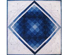 """""""Synchronized Swimming"""" , 22 x 22"""", art quilt by Pam Geisel 