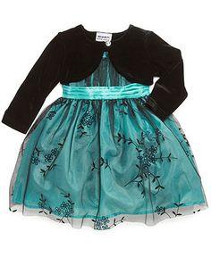 Blueberi Boulevard Baby Set, Baby Girls 2-Piece Bolero Jacket and Special Occasion Dress - Kids Baby Girl (0-24 months) - Macy's