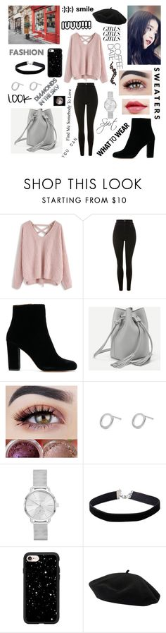 """""""cool style"""" by blerina4 on Polyvore featuring Chicwish, Topshop, IRO, Myia Bonner, Michael Kors, Miss Selfridge, Casetify and Goorin"""