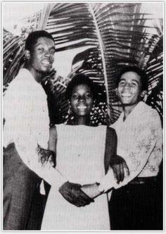 Bob Marley, Rita Marley and Peter Tosh