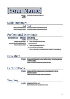 56 best Resume Templates images on Pinterest | Resume cv, Resume and ...