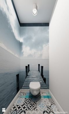 Sea for miles! An idea that could open up the space in even the smallest bathroom.