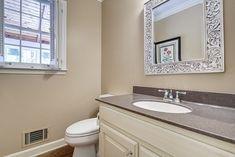 badezimmer streichen beige wandfarbe vintage spiegel