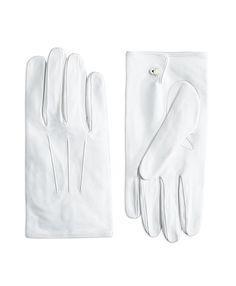 White Formal Gloves White