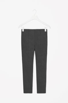 COATED SKINNY FIT TROUSERS