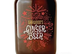 We designed the brand and labels for Garwood's Ginger Beer based in Salt Lake City. Though we still haven't done a proper photoshoot of all the bottles and other assets we created for them, so I th. Beer Packaging, Packaging Design, Beer Label Design, Buy Beer, Web Design Projects, Ginger Beer, Flat Illustration, Bottle Design, Wine Recipes