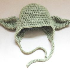 Bretty said he would love one of these! :p Repeat Crafter Me: Crocheted Free Yoda Hat Pattern