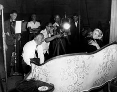 Grace Kelly, Cary Grant & Alfred Hitchcock on the set of To Catch a Thief (1955)