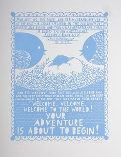 'Your Adventure Is About To Begin' Screenprint