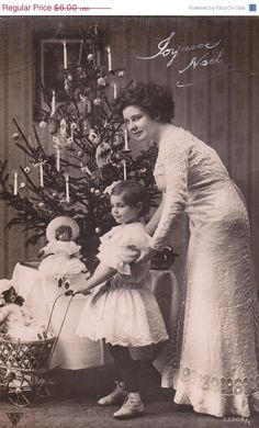 Black Friday Sale Pretty Edwardian Christmas Girl