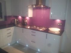 contemporary kitchen doors with lights - Google Search