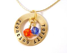 University of Illinois necklace -- the Fighting Illini #illinois #illini