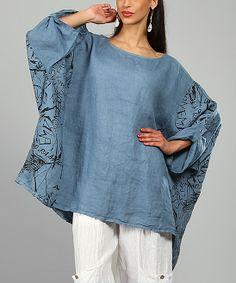 Blue Ariell Linen Tunic