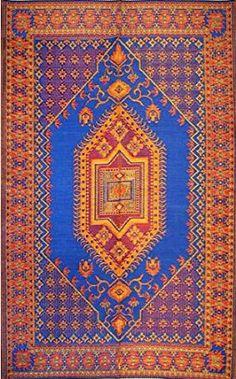 Amazon.com : Mad Mats Oriental Turkish Indoor/Outdoor Floor Mat, 4 by 6-Feet, Aqua : Plastic Rug : Patio, Lawn & Garden