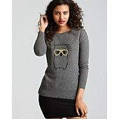 Shink? (If they have a great black friday sale!!! :) ) Aqua Cashmere Sweater - Owl Crewneck
