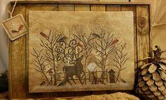 Winter Wonderland Belsnickle & Reindeer Cross Stitch