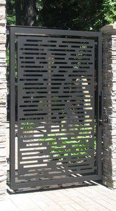 Interesting idea for door between driveway and patio