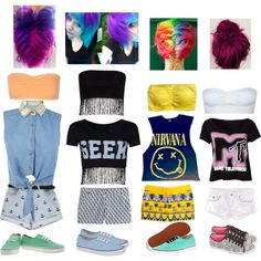 Warped tour outfit ideas see what inspires you. Tip: bring water, you don't what to get dehydrated and pass out. You'll be sweating a lot, you have to bring an unopened water bottle to be able to bring it inside. Warped Tour, What Inspires You, Dress Up, Bring It On, Swimsuits, Swimming, Tours, Water Bottle, Costume