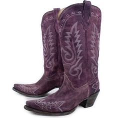 6605b0ecb37 Corral Women s Genuine Leather Boots Purple R1949 All Sizes