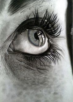Realistic Pencil Drawings, Art Drawings Sketches Simple, Pencil Art Drawings, Realistic Eye Sketch, Photo Oeil, Eyeball Drawing, Charcoal Drawing Tutorial, Eyes Artwork, Eye Drawing Tutorials