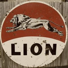 Vintage Gas Station Signs | Old Lion gas station signs | Flickr - Photo Sharing!