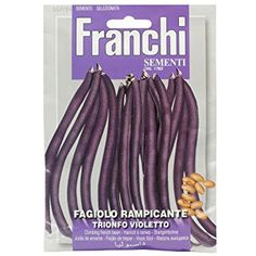 Franchi Climbing French Bean Trionfo Violetto Eggplant, Climbing, Beans, French, Vegetables, Food, Meal, Rock Climbing, French People